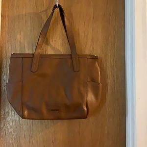 Almost new brown fossil tote style purse